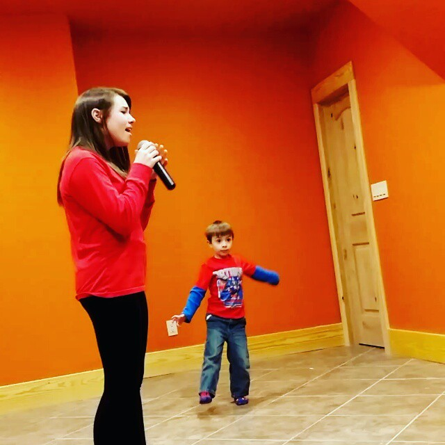 Leah Thompson singing to her little brother.  #AThousandYears