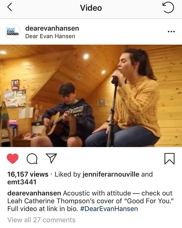 wow!! 🤩  i am shocked!! thank you so much for sharing!! ️ @dearevanhansen • great job to @kodaklee5 !!!
