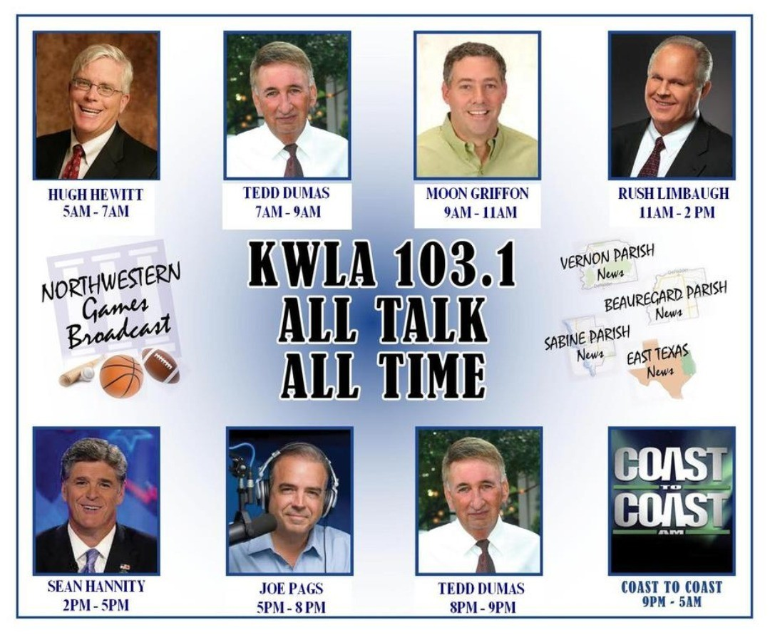 NEWSFLASH! I will be on the radio tomorrow morning from 7:30am-8:00am on the Tedd Dumas show.  You can tune in on the following radio stations:  KWLV 107.1 in Many, LA KZBL 100.7 FM in Natchitoches, LA KVCL 92.1 in Winnfiled, LA KWLA 103.1 in Leesvile, LA KTHP 103.9 in Hemphll, TX  If you want to watch it online you can see it on the link below ↓↓↓ www.kwla1031.com  #surefire #DeRidder #Leesville #FortPolk #weregonnafindourway #classof2020 #graduation #graduation2020 #2020seniors